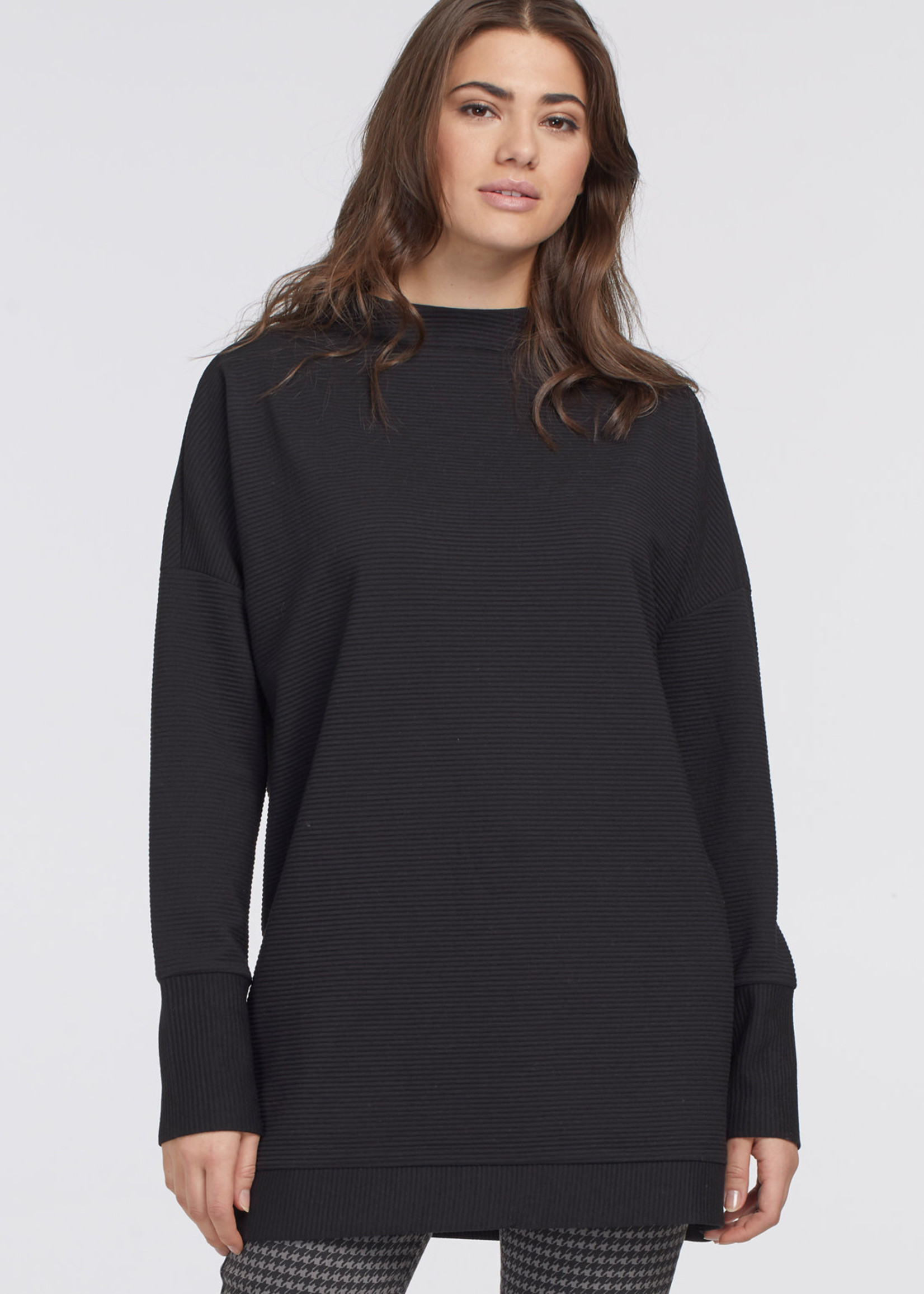 Tribal Funnel Neck Tunic with Ribbing 68500/4299