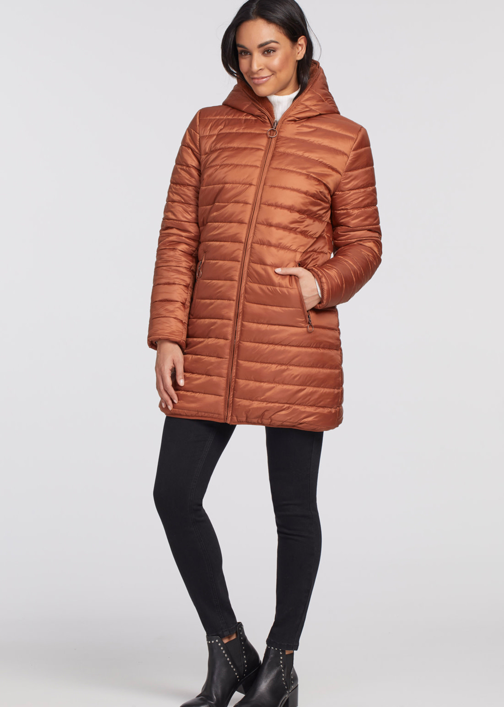 Tribal Reversible Puffer With Fur and Hood 72250/2573