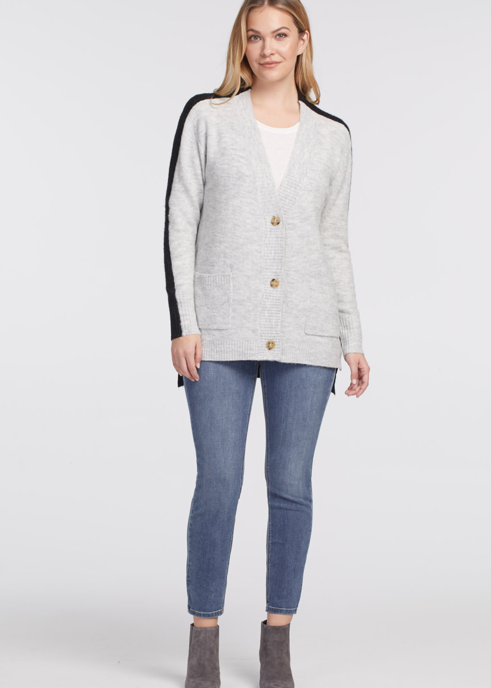 Tribal L/S Button Front Sweater Cardigan 46790/3166