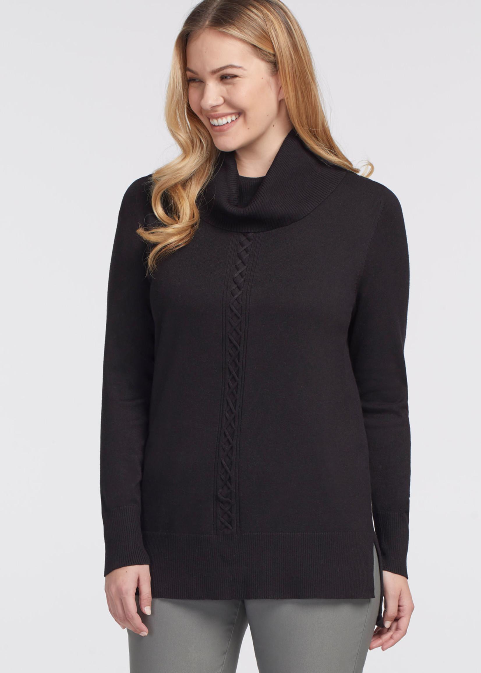 Tribal Long Sleeve Cowl Neck Sweater 47030/133