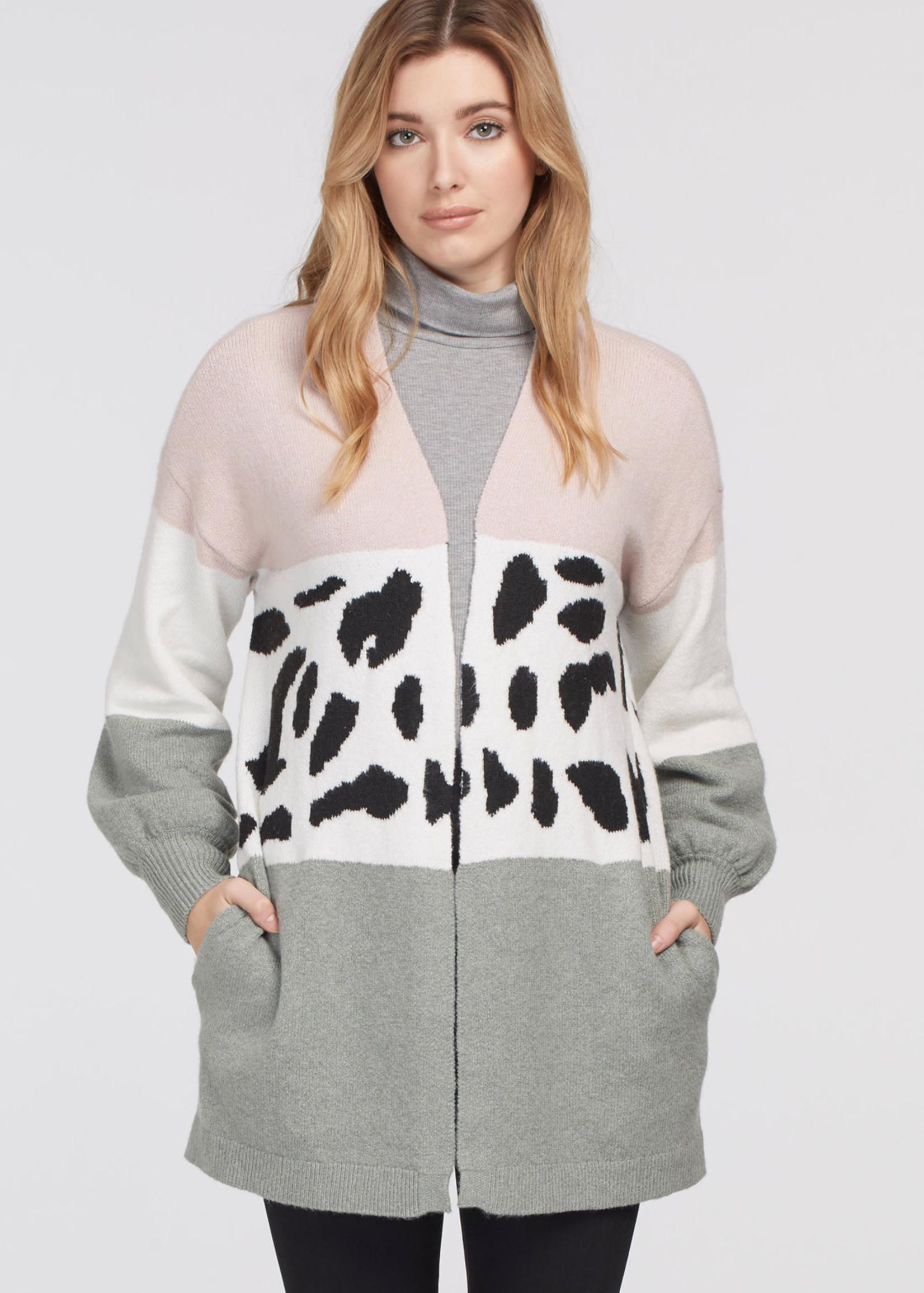 Tribal Intarsia Sweater Cardigan 71410/4100
