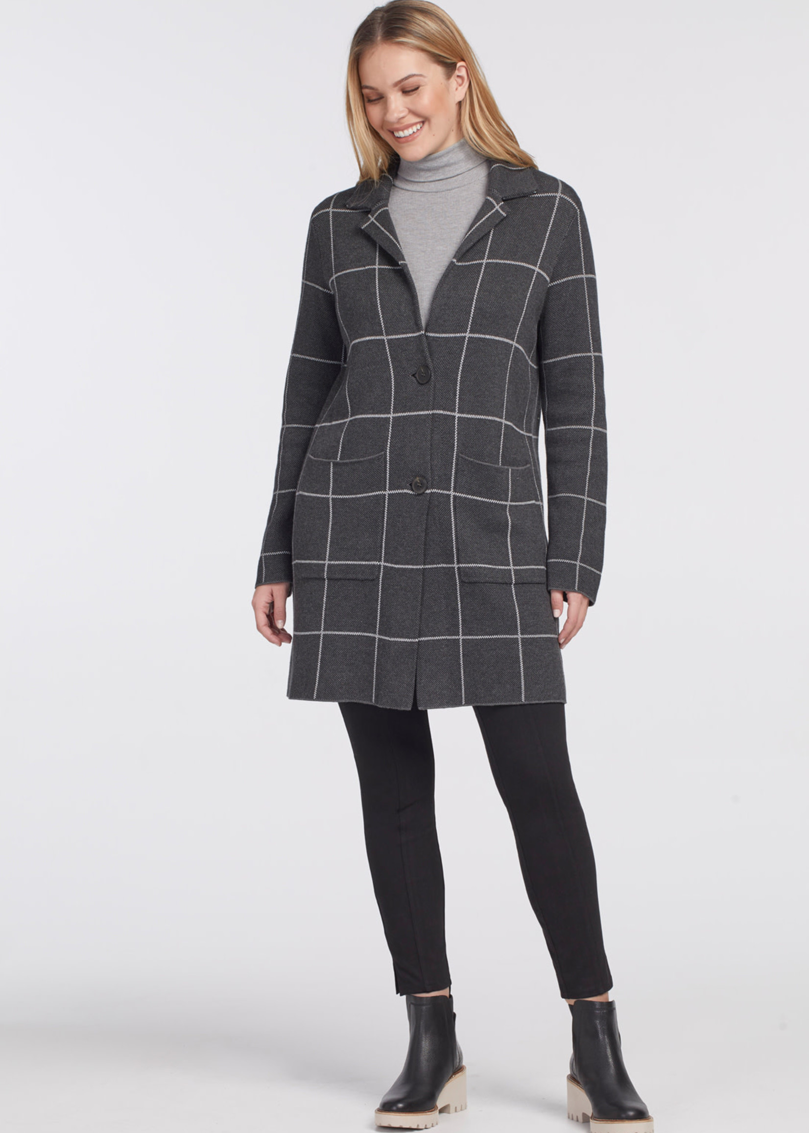 Tribal Long Sleeve Single Beasted Overcoat 47950