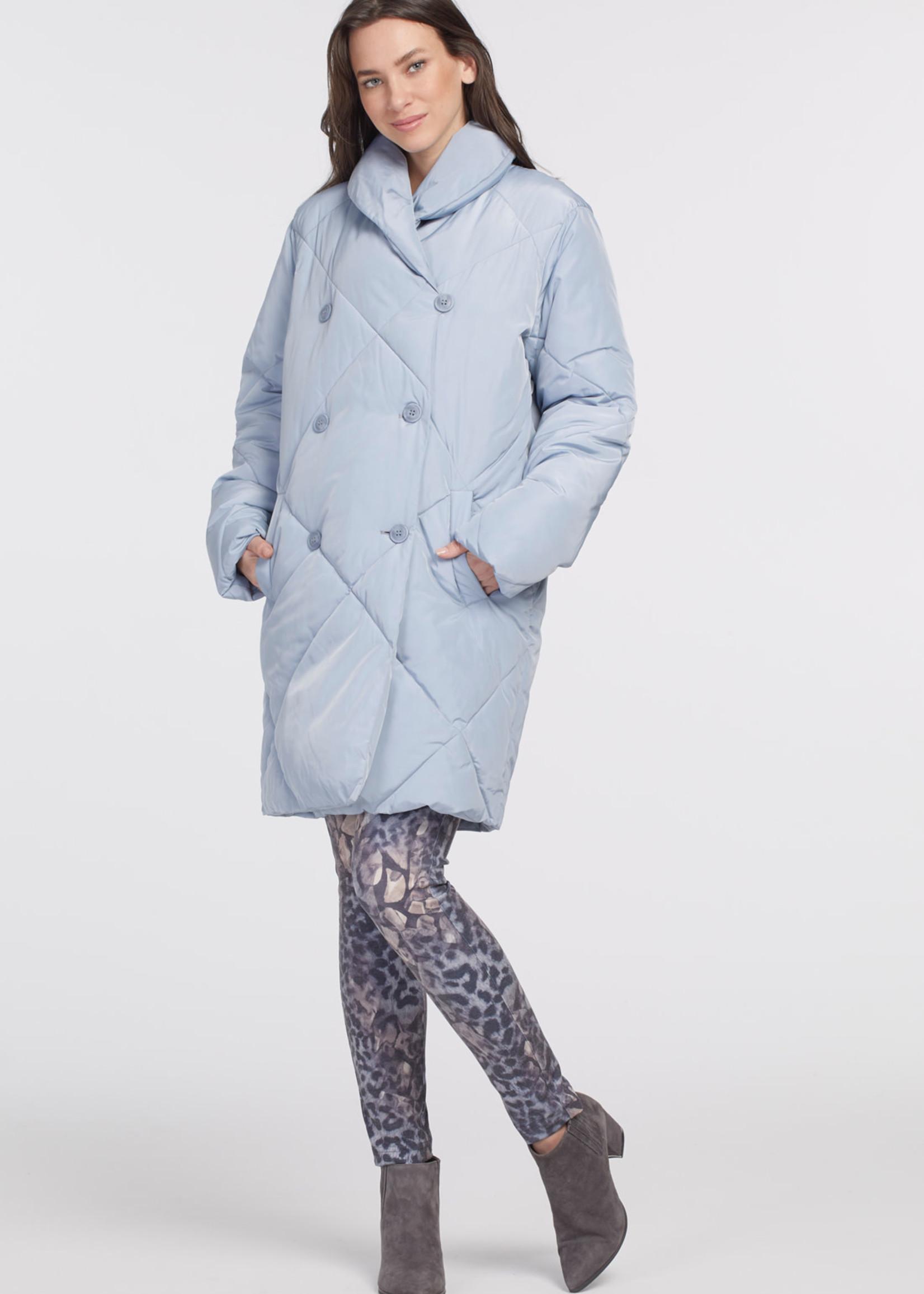 Tribal Shawl Collar Puffer Coat 47070