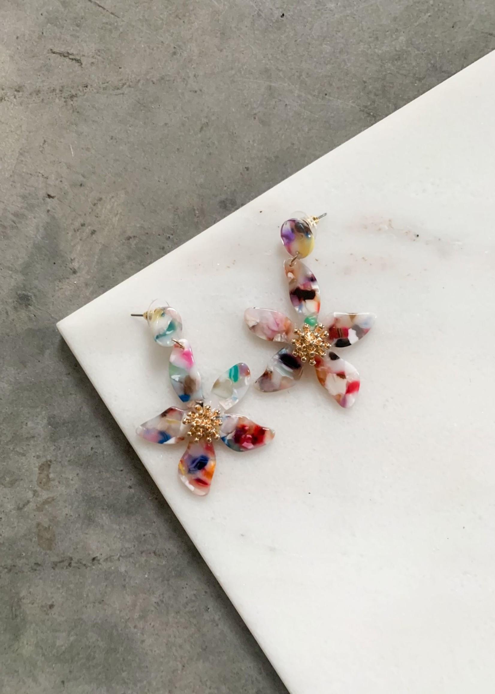 Elitaire Boutique Flower Bulb Drop Earrings