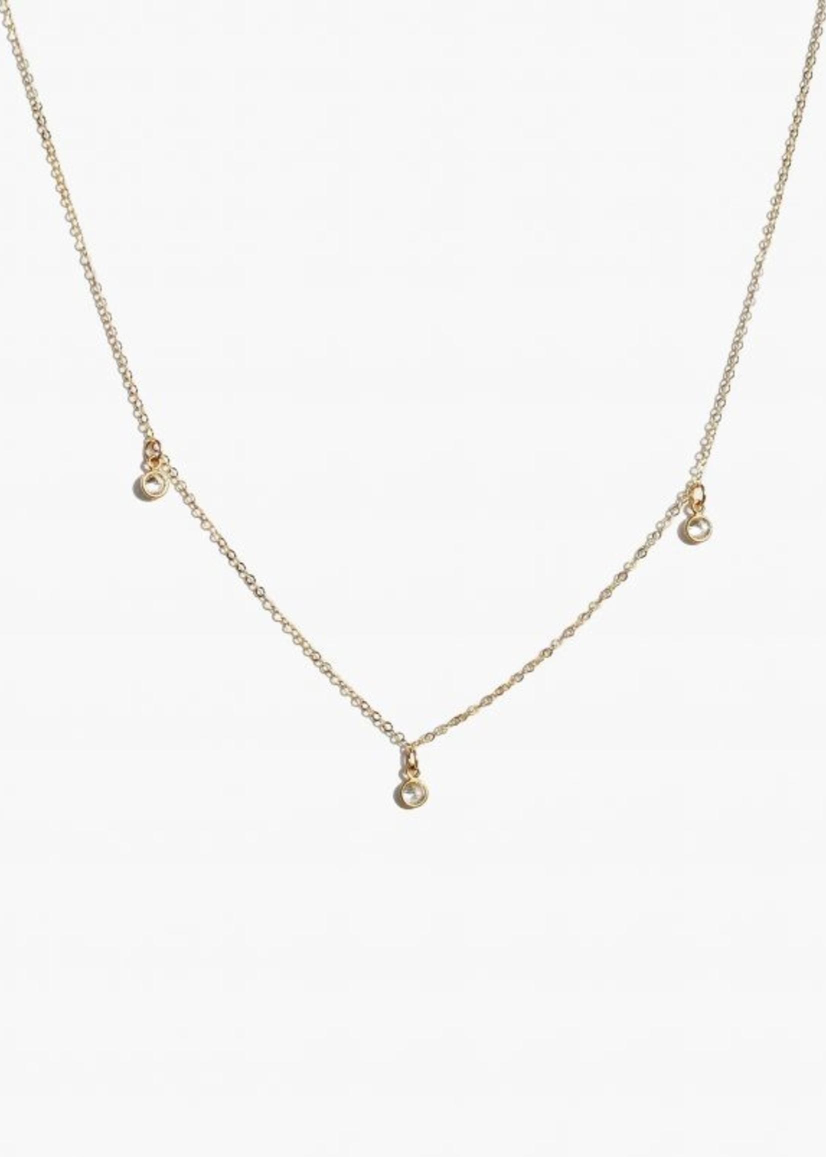 Elitaire Boutique Triple Stella Drop Necklace