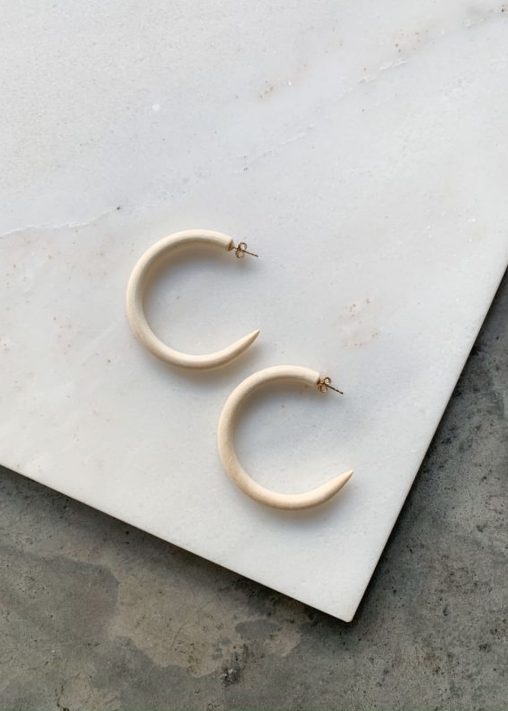 Elitaire Boutique Chanel Ivory Small Hoop