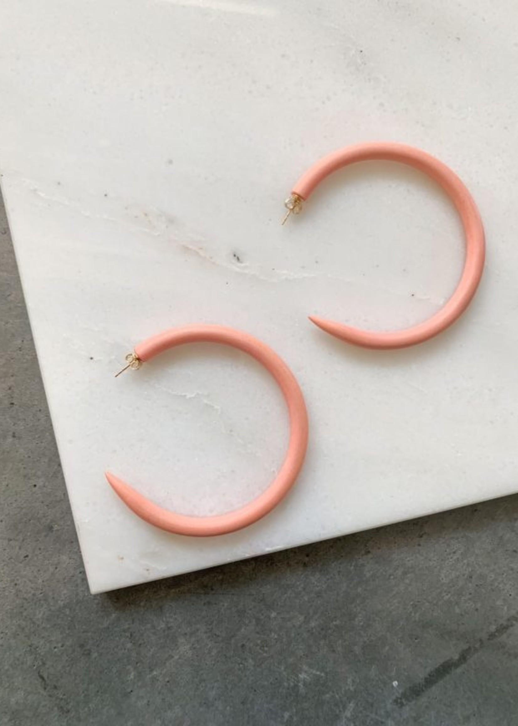 Elitaire Boutique Terracotta Large Hoop