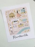Elitaire Boutique Huntsville Map Print 5x7