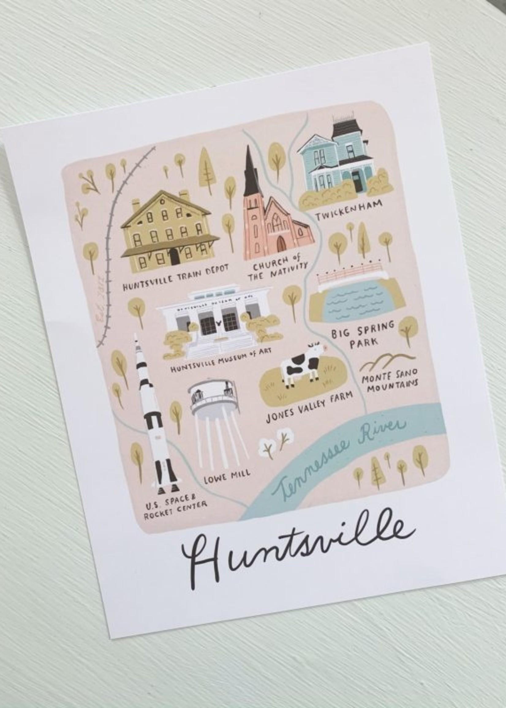 Elitaire Boutique Huntsville Map Print 8x10