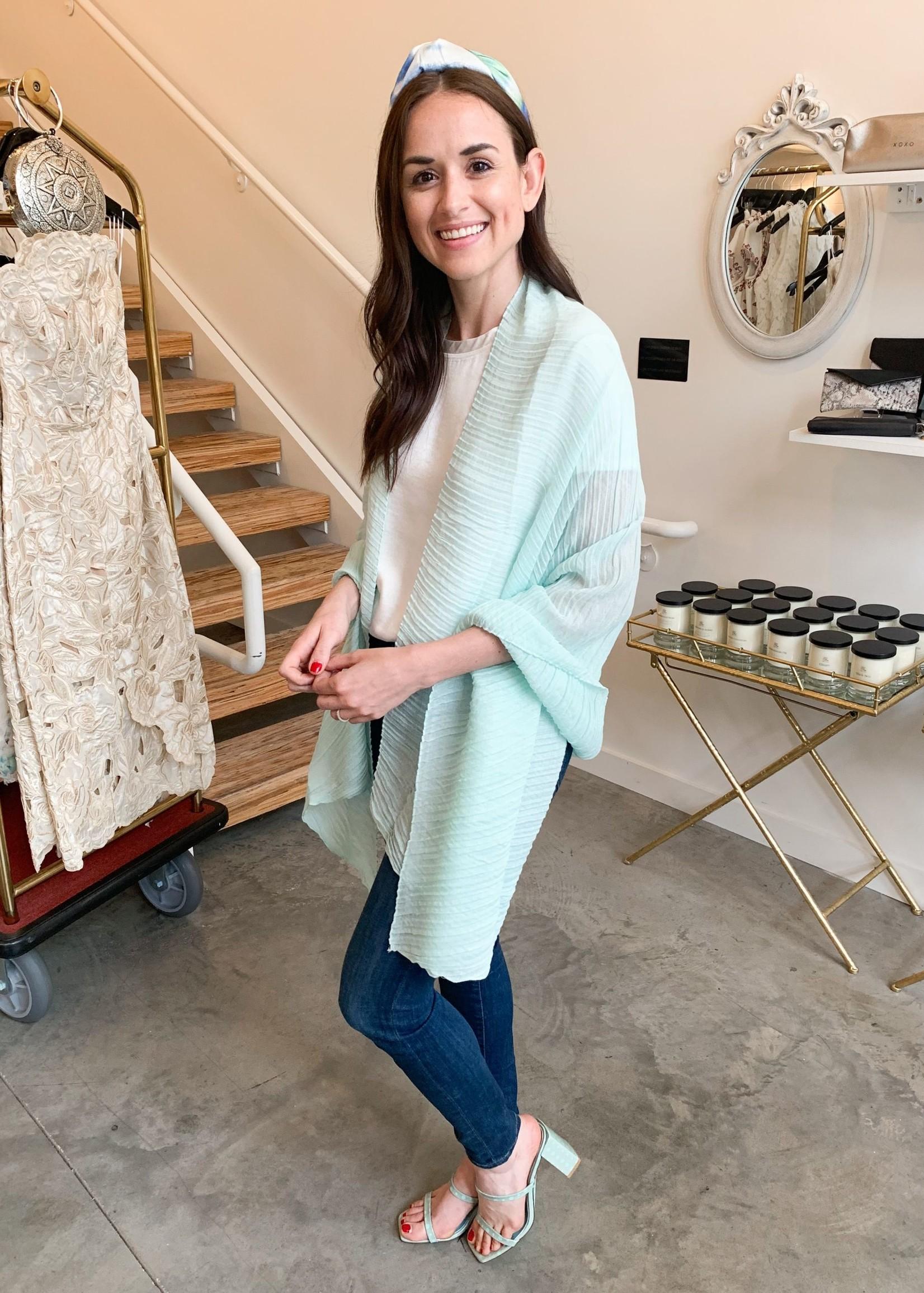 Elitaire Boutique Pleated Shear Pashmina