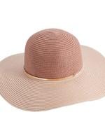 Elitaire Boutique Pink Color Block Sun Hat