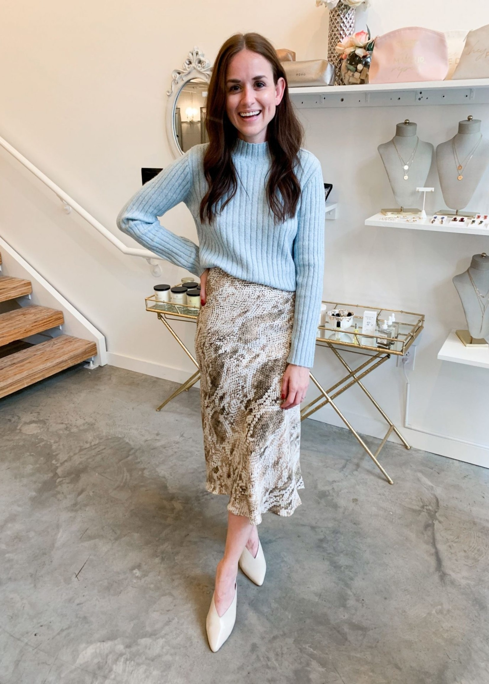 Elitaire Boutique Linda Midi Skirt