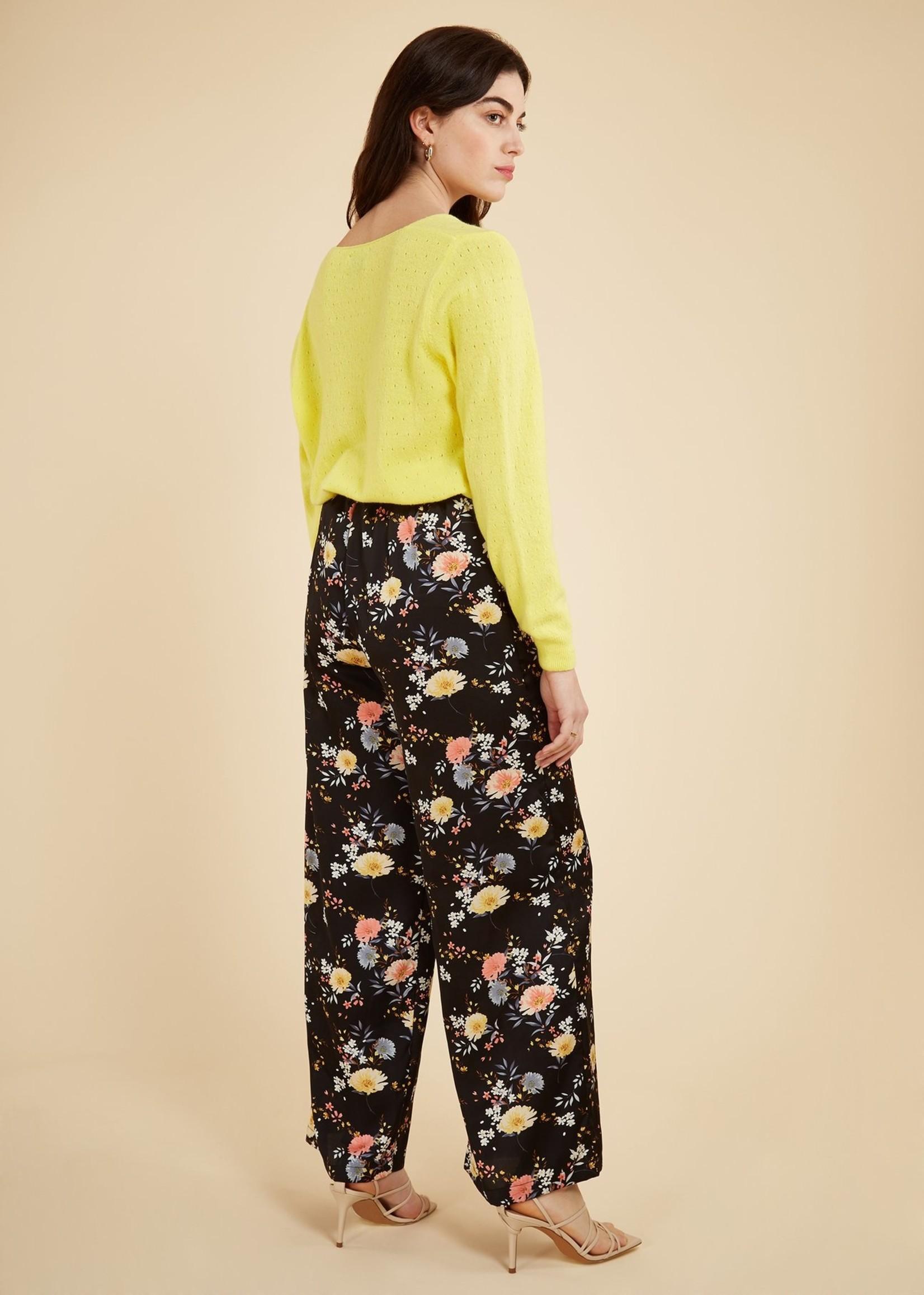 Elitaire Boutique Precilla Black Floral Pant
