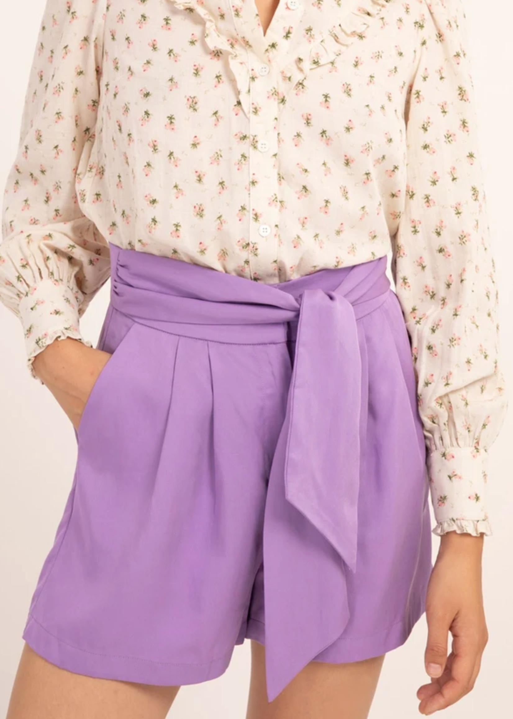 Elitaire Boutique Davina Lilac Shorts