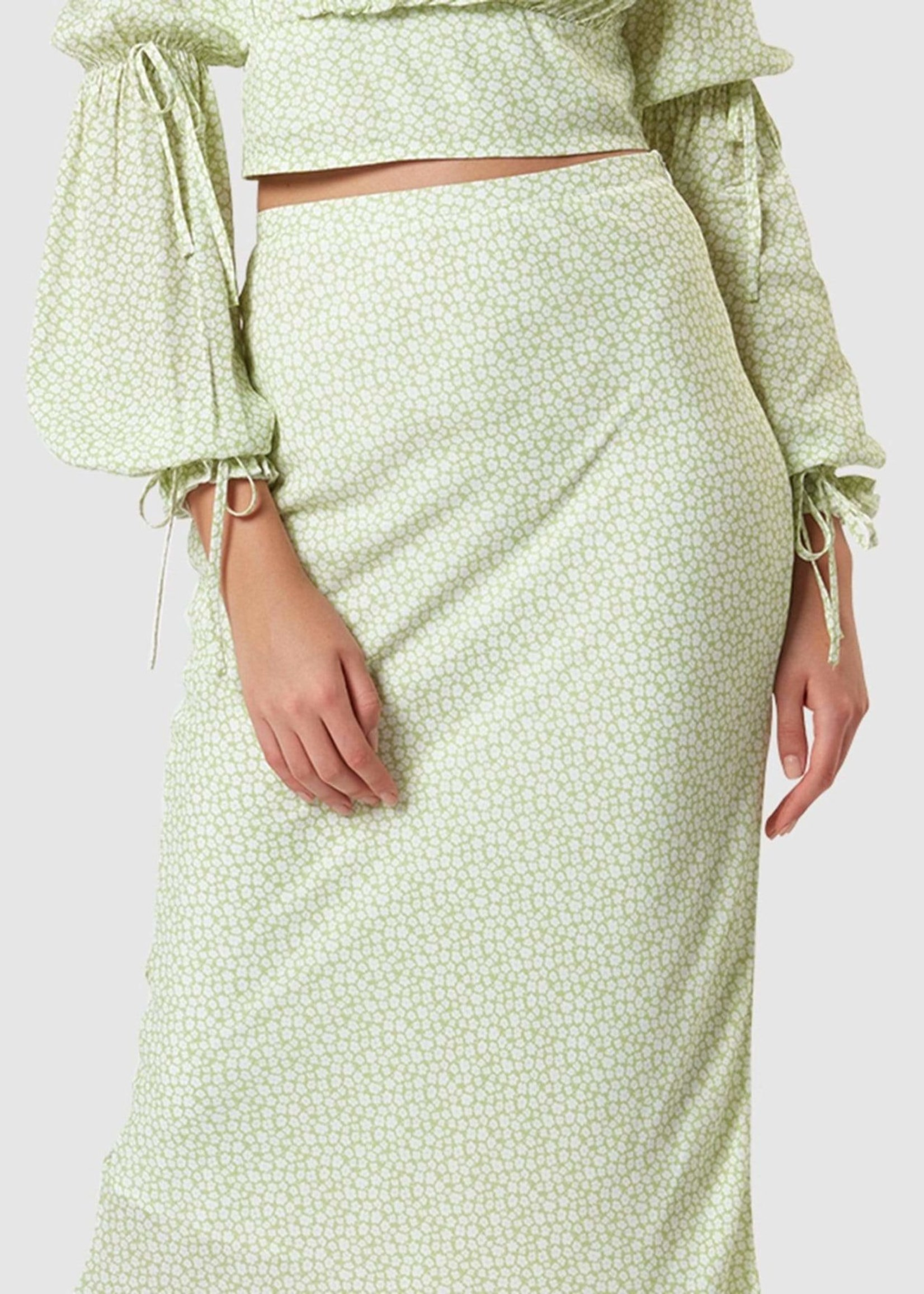 Elitaire Boutique Chelsea Floral Midi Skirt