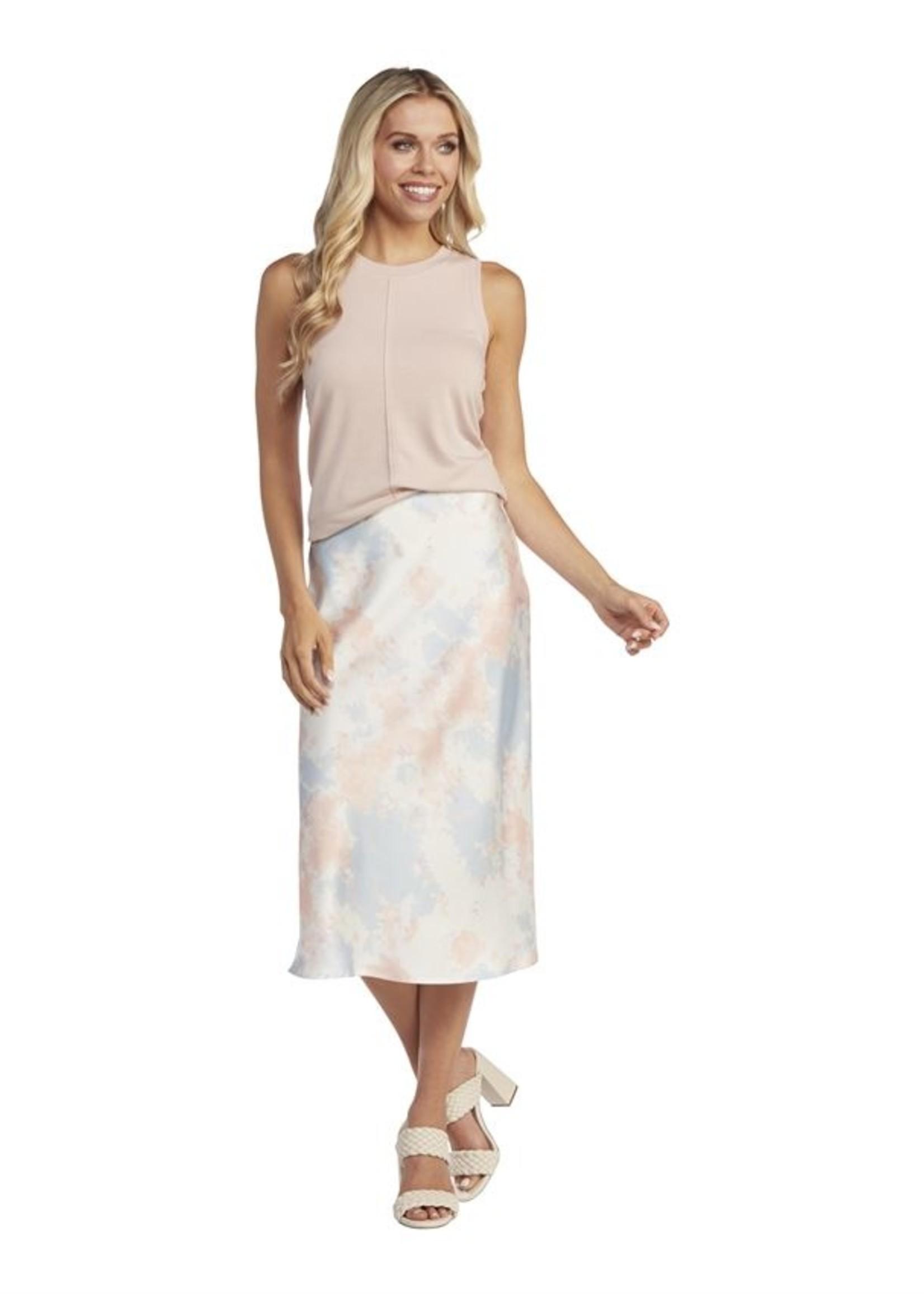 Elitaire Boutique Anya Tie Dye Midi Skirt