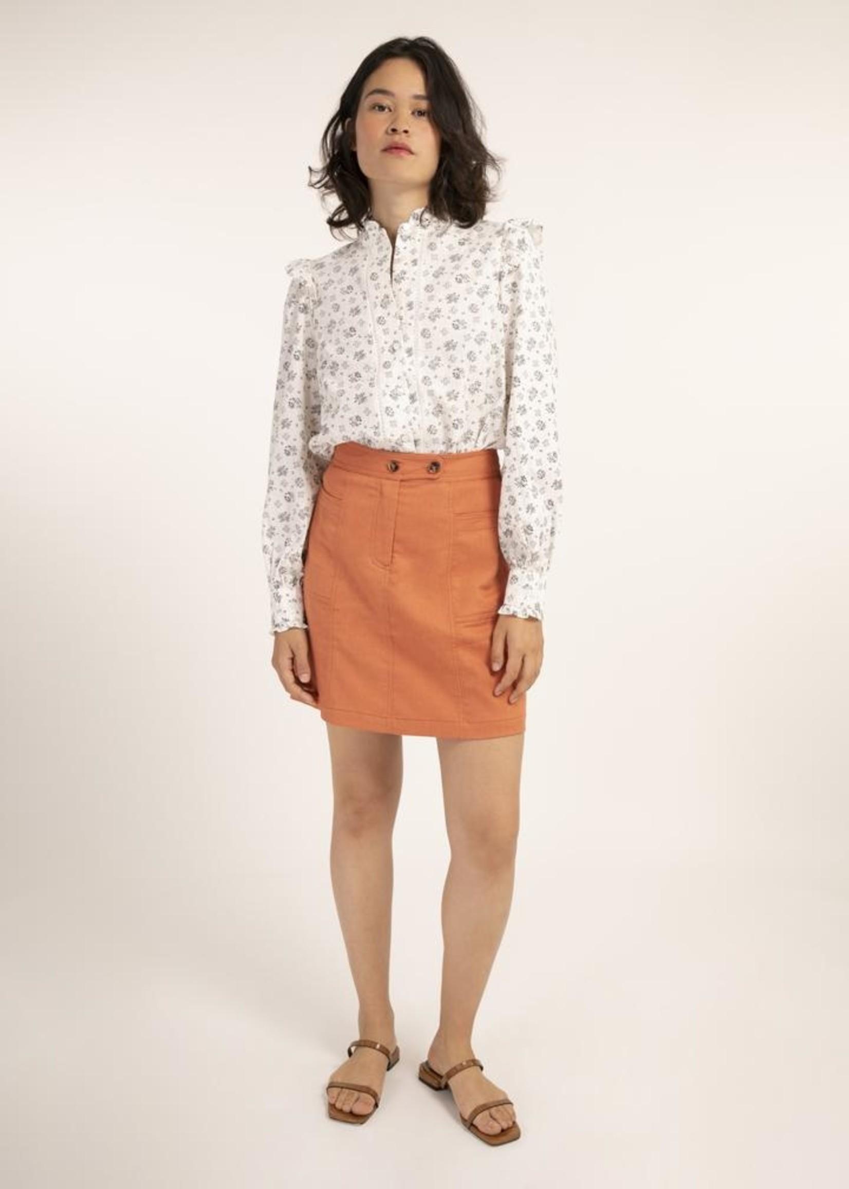 Elitaire Boutique Elymus Skirt in Brick