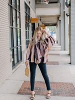 Elitaire Boutique Della Striped Shirt