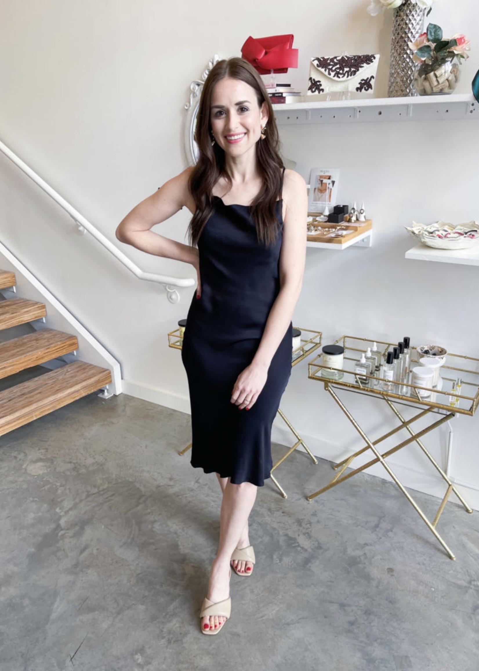 Elitaire Boutique Navy Blue Slip Dress