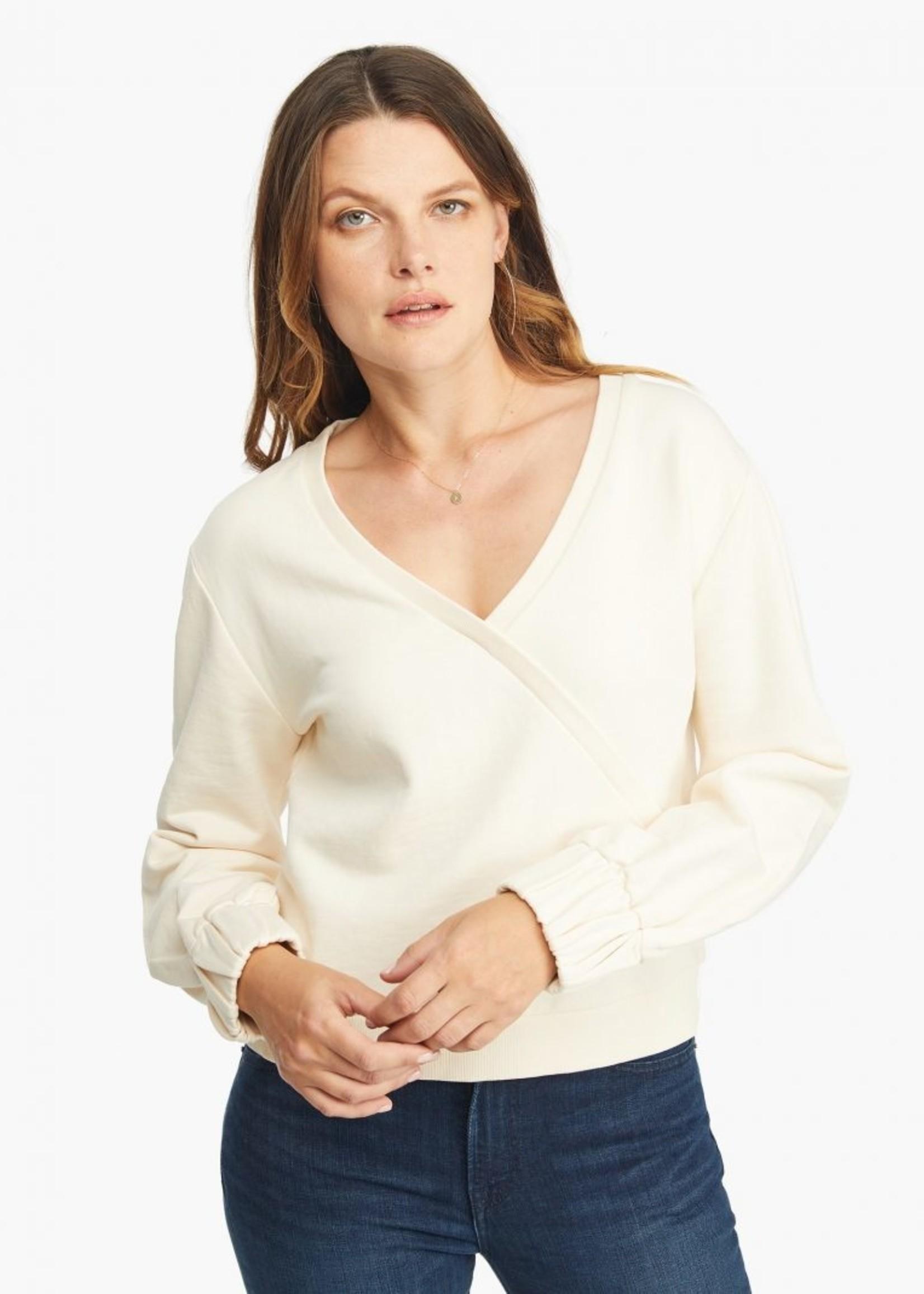 Elitaire Boutique Wrap Sweatshirt in Antique