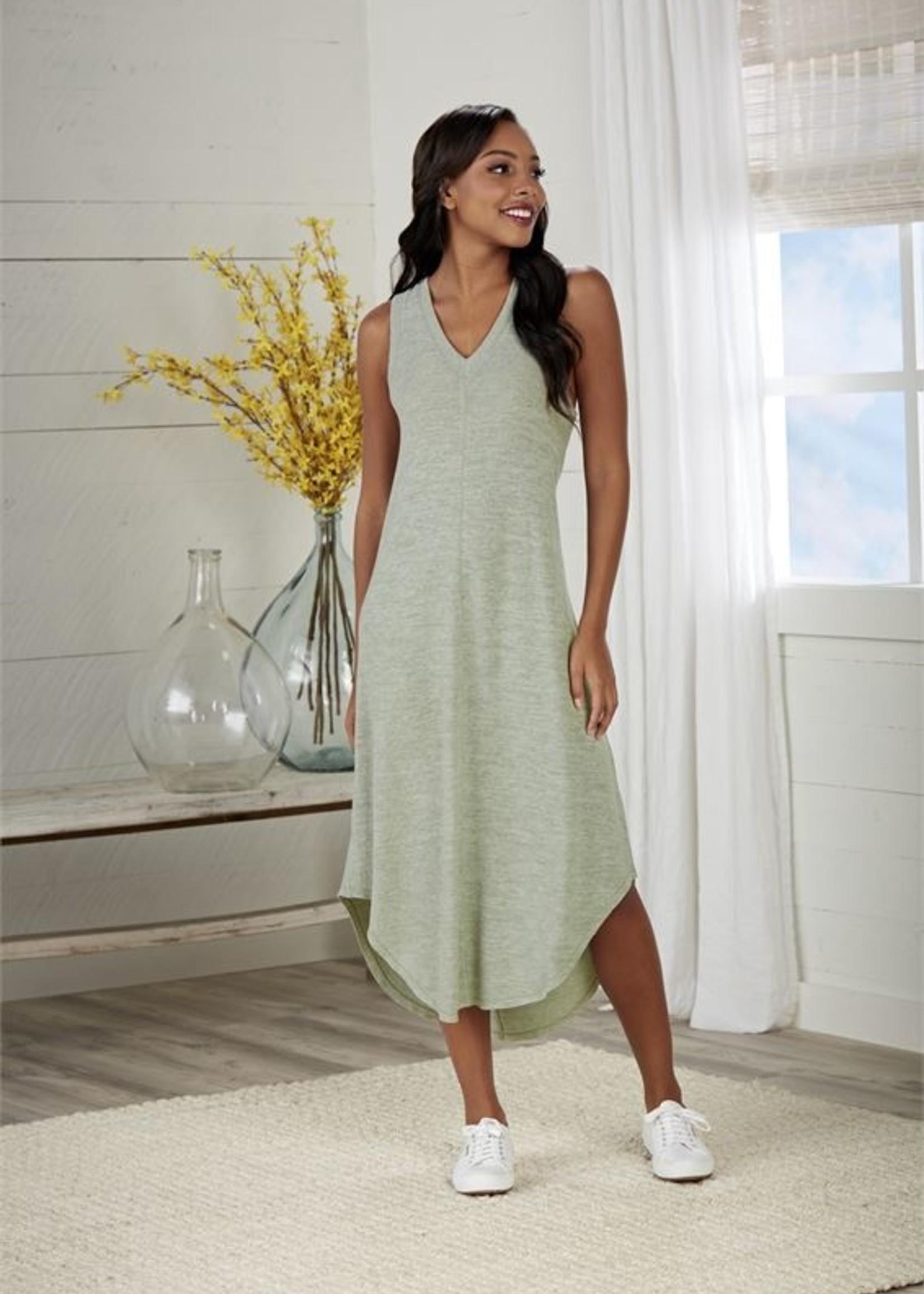 Elitaire Boutique Nash Midi Dress in Sage