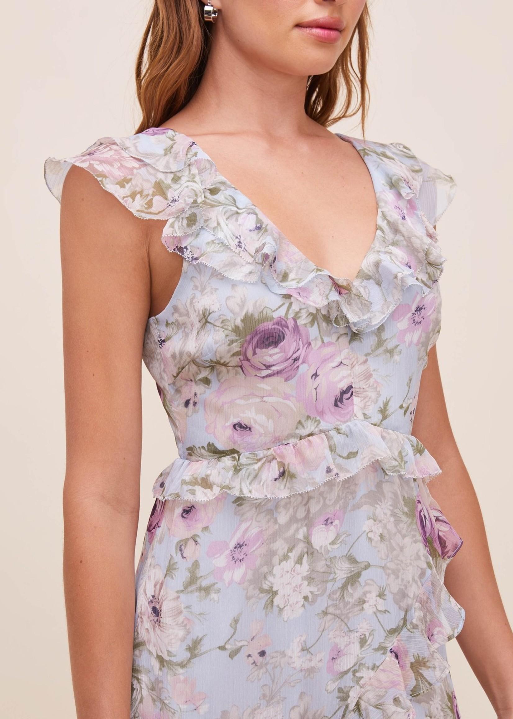 Elitaire Boutique Tempest Lilac Floral Dress