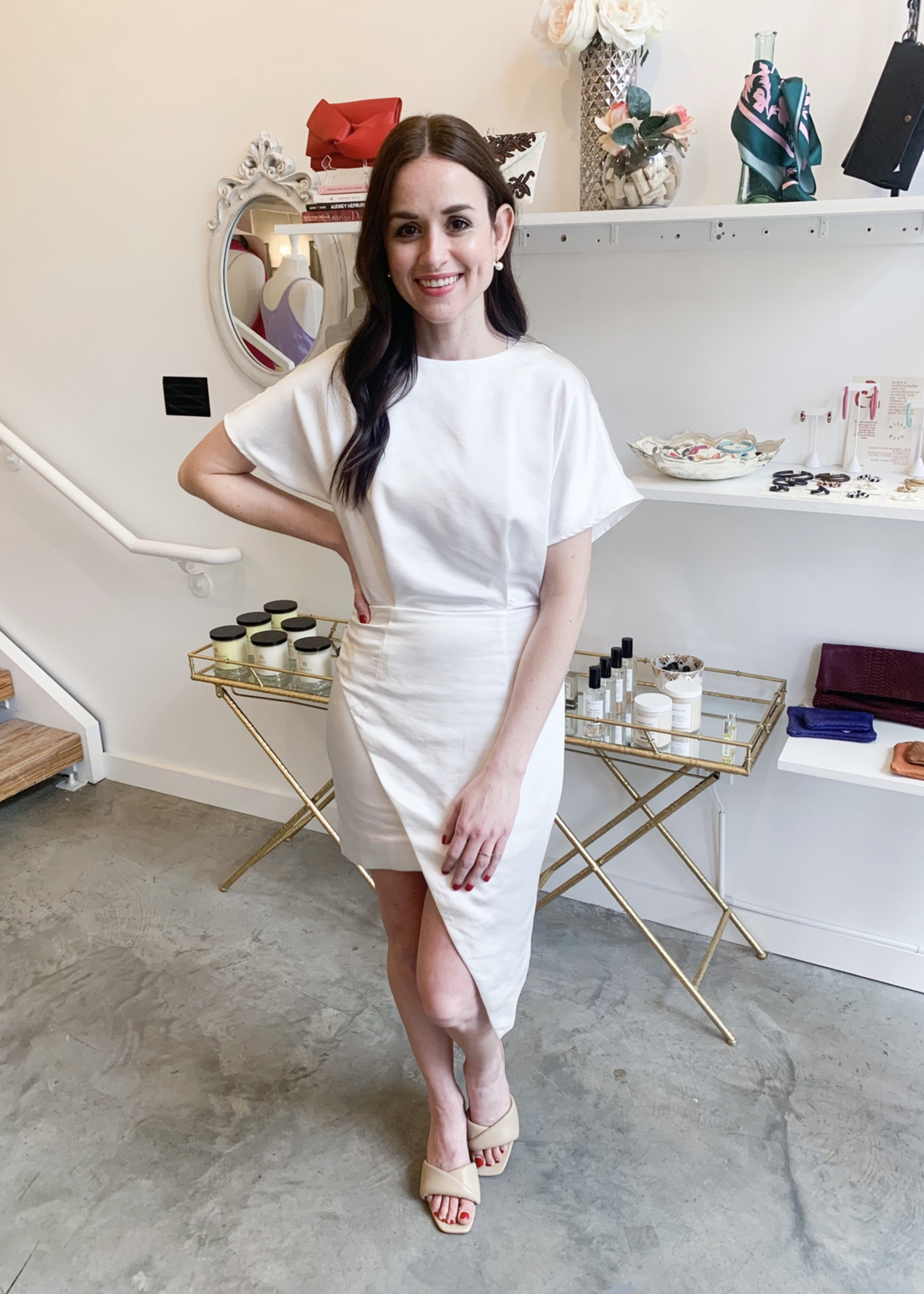 Elitaire Boutique Elitaire Ivory Dress