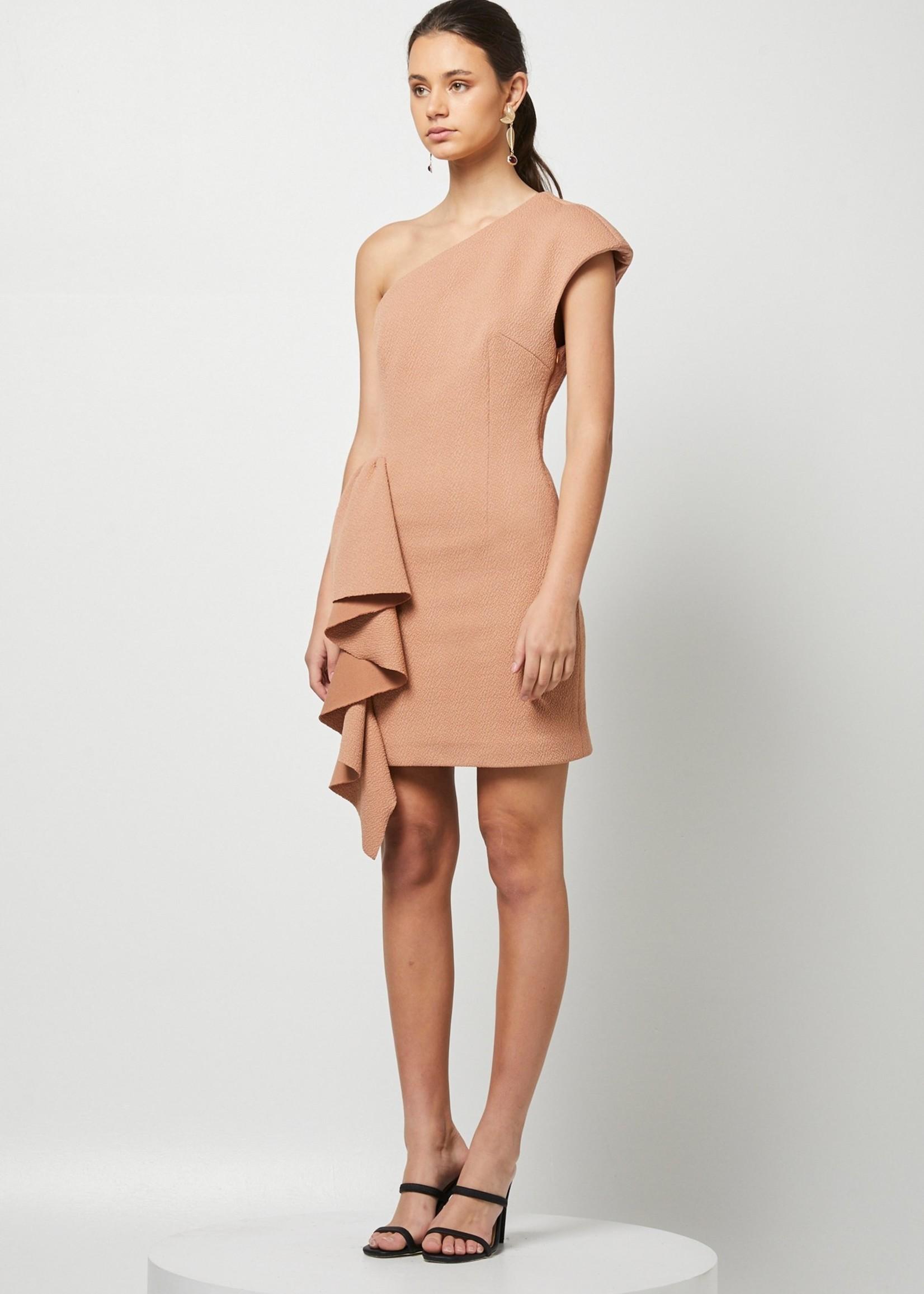Elitaire Boutique Jacelyn Taupe Dress