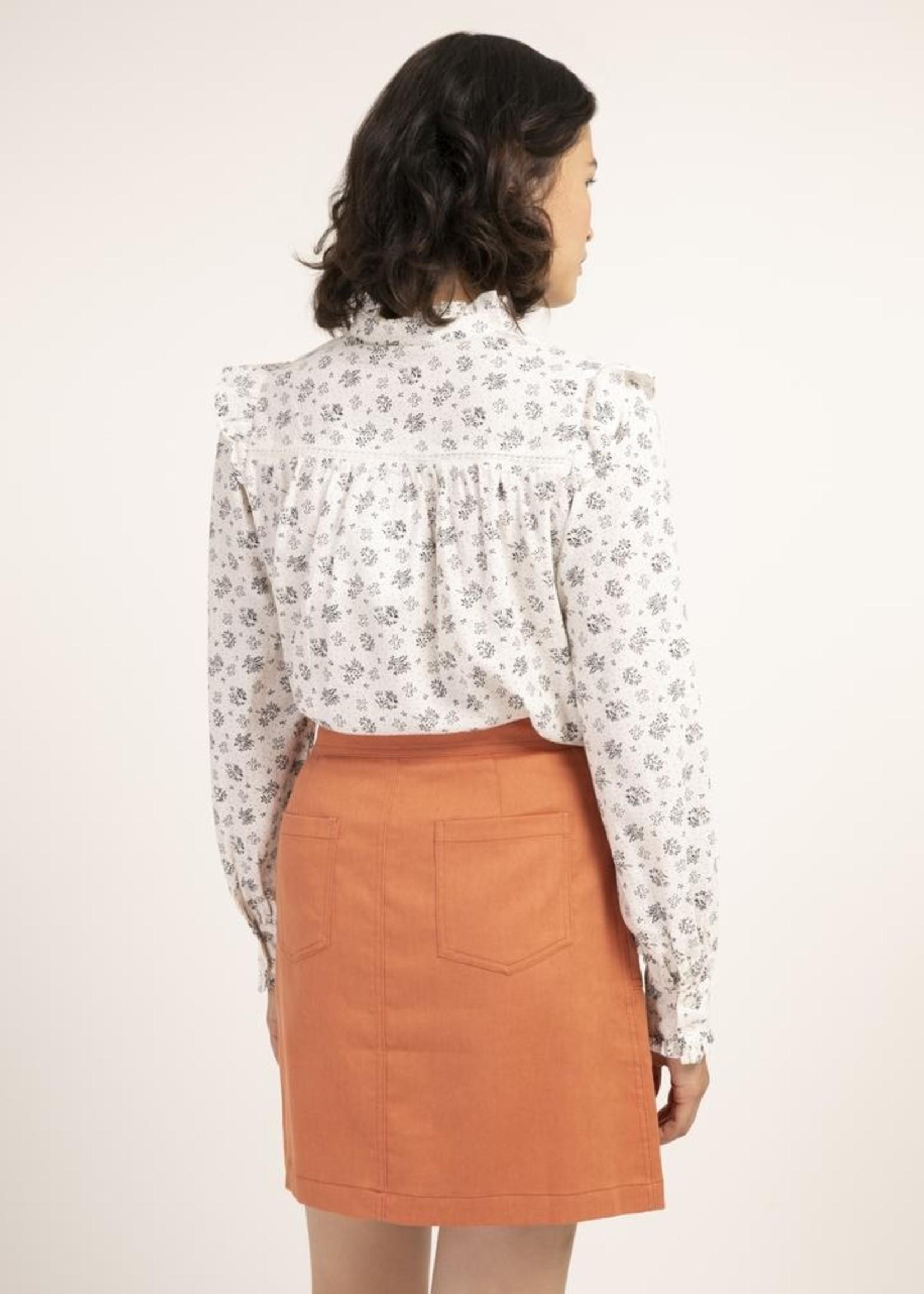 Elitaire Boutique Provence White Floral Shirt