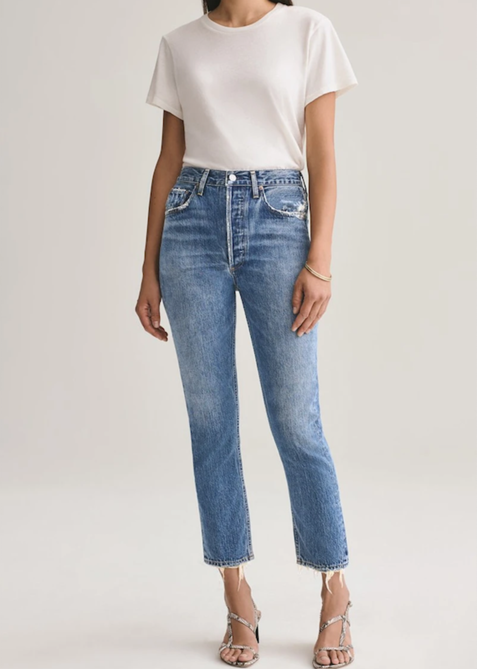 Elitaire Boutique The Riley High Rise Crop in Frequency