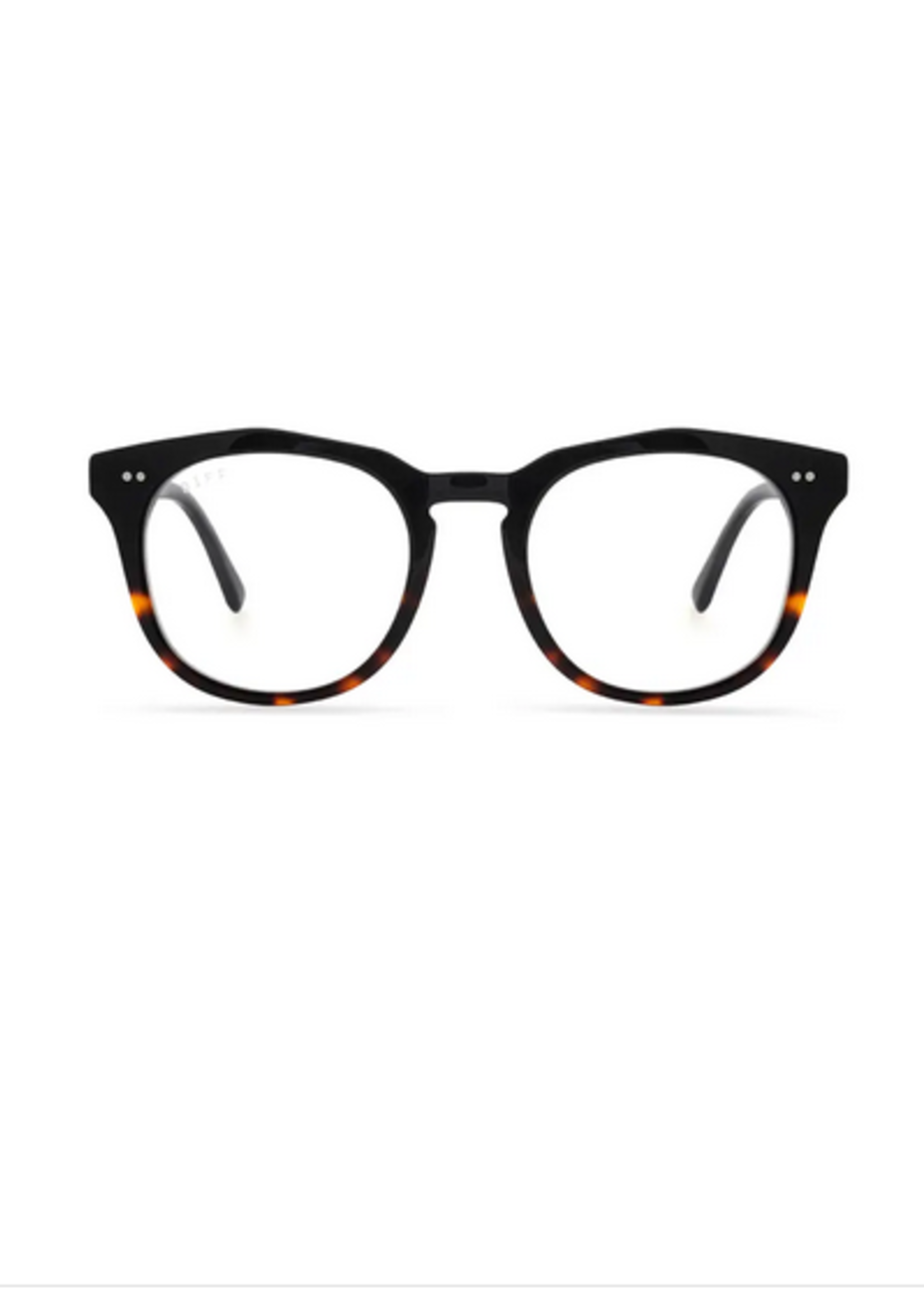 Elitaire Boutique The Maxwell Black Tortoise Blue Light