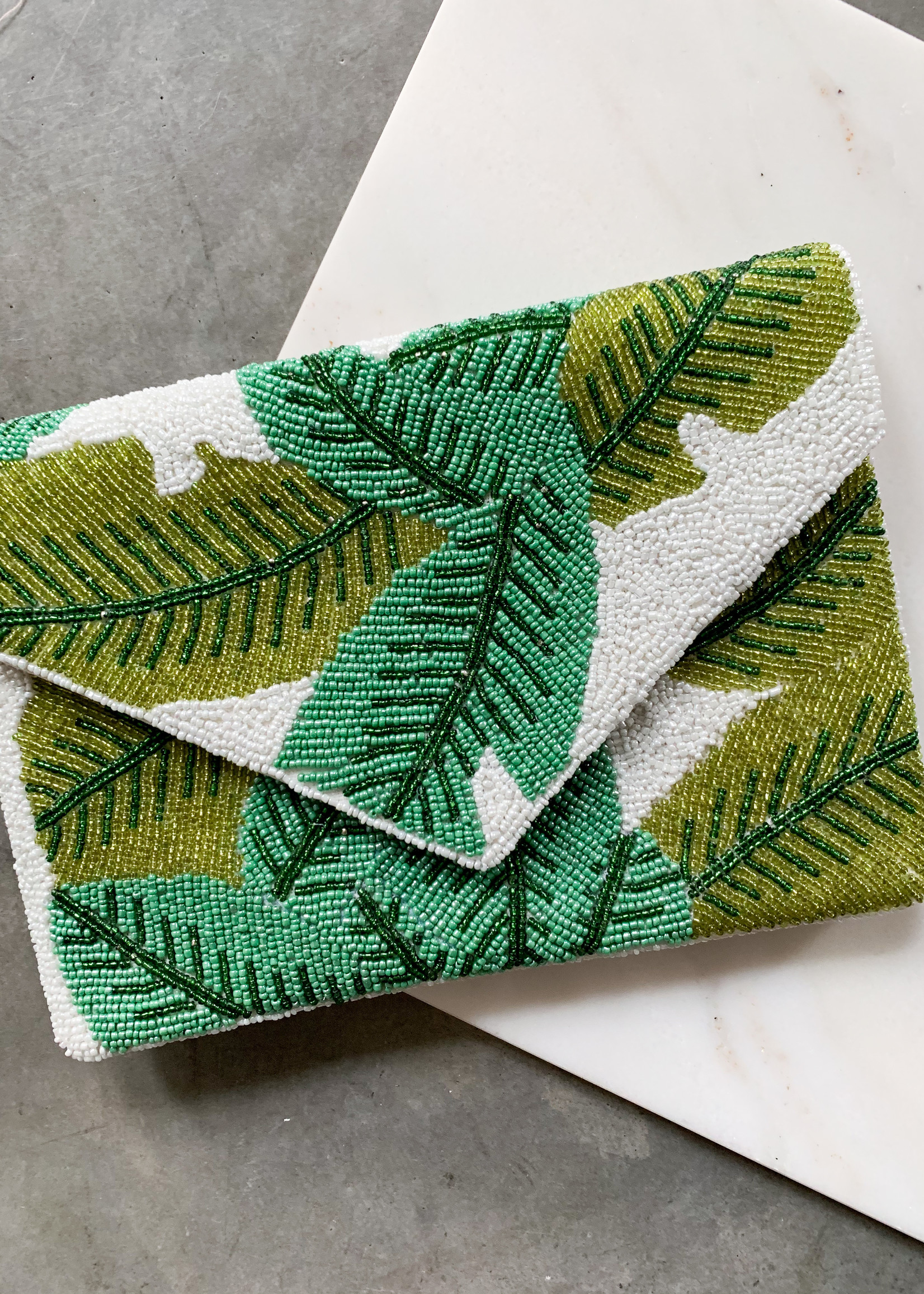 Elitaire Boutique Aruba Palm Clutch
