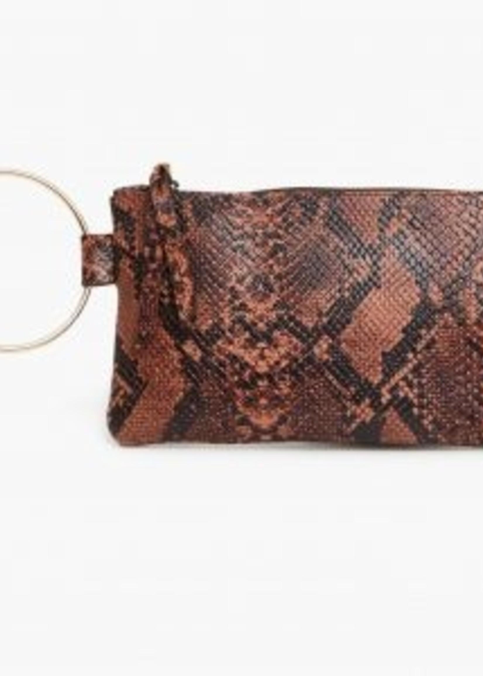 Elitaire Boutique Fozi Snake Wristlet
