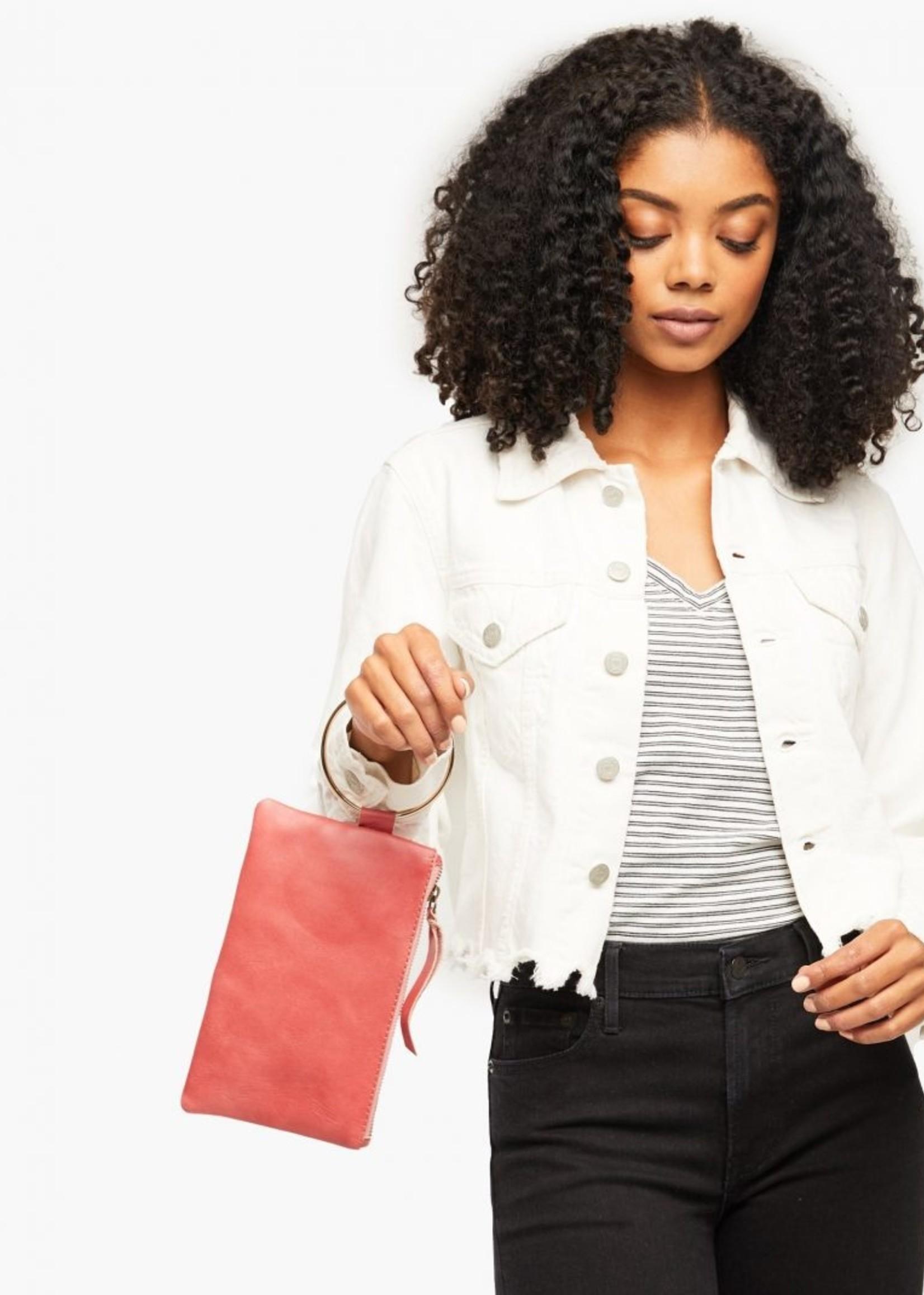 Elitaire Boutique Fozi Rose Wristlet