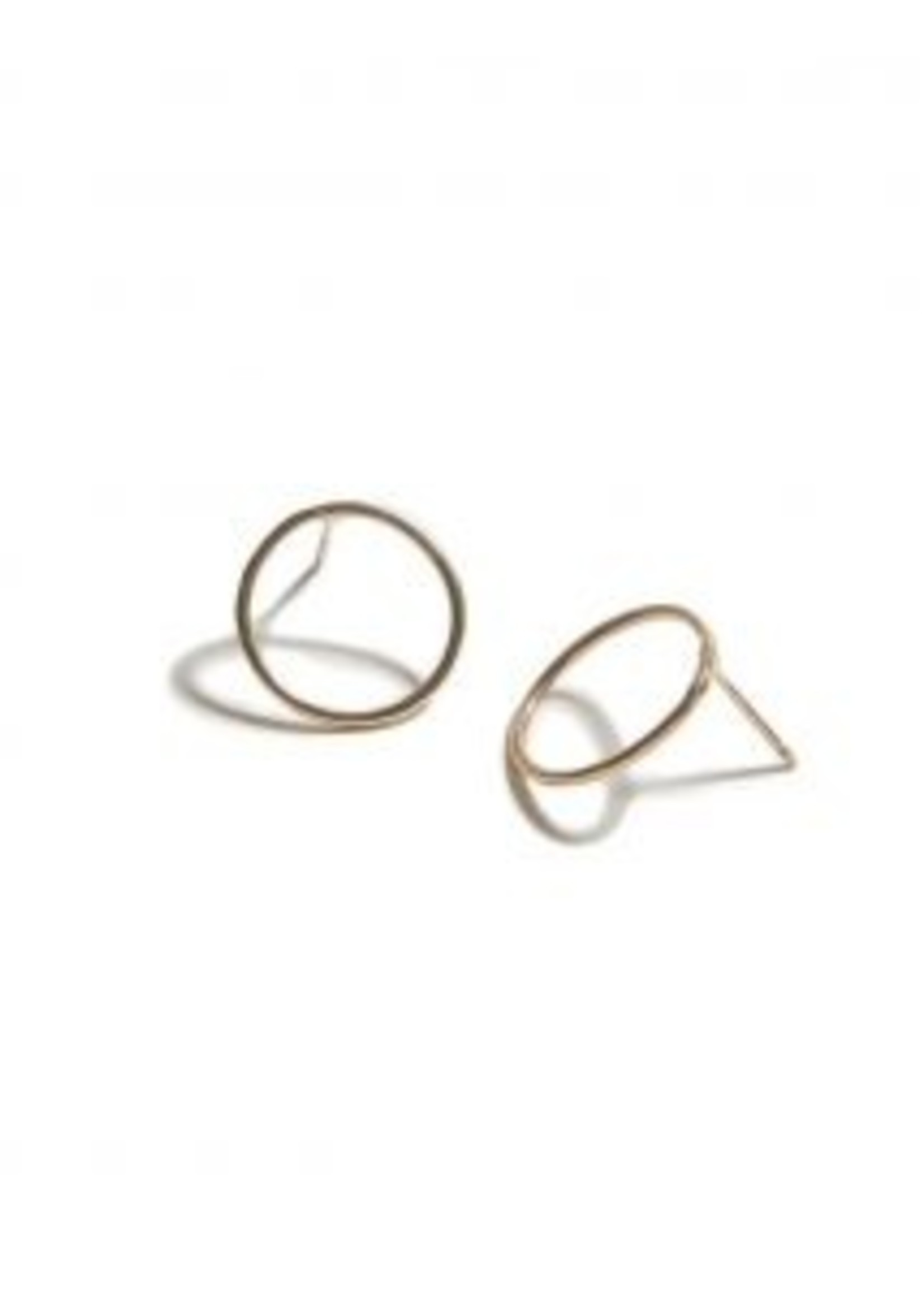 Elitaire Boutique Hammered Circle Earring