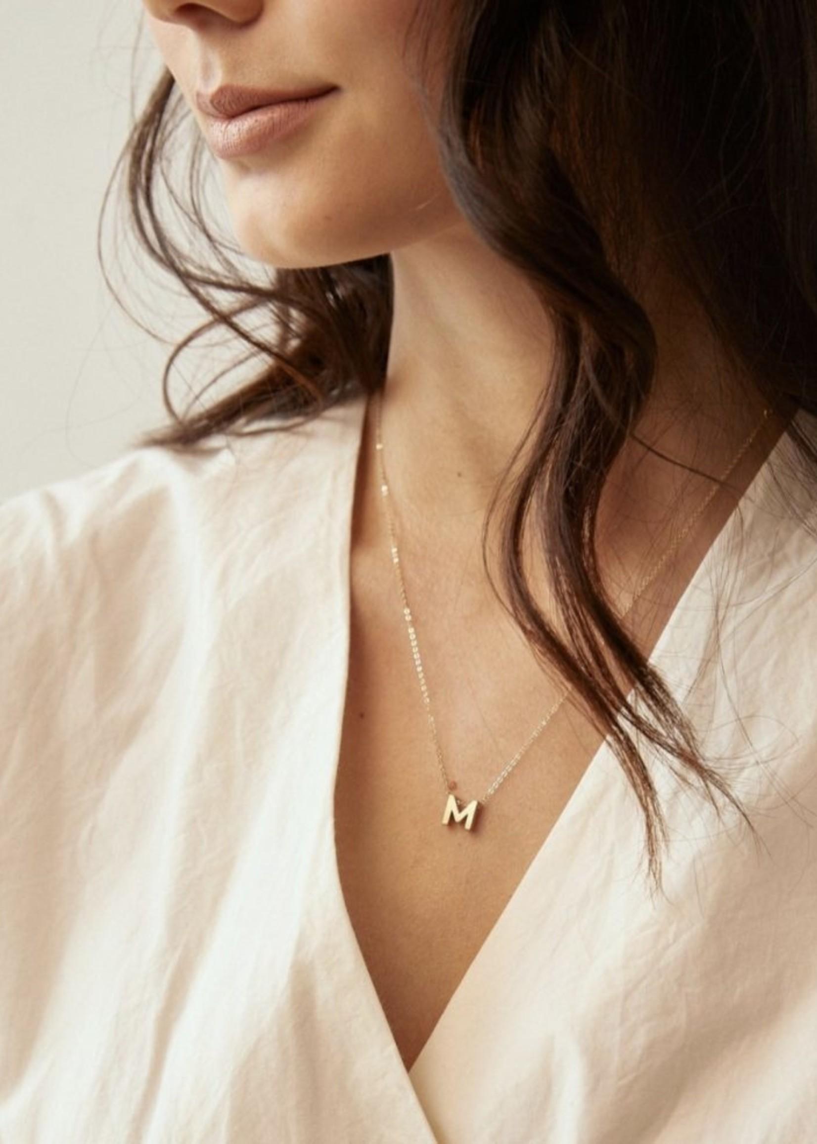 Elitaire Boutique Letter Charm Necklace