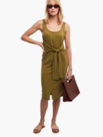 Elitaire Boutique Gwen Knot Dress in Olive