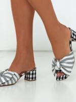 Elitaire Boutique Bow Stripe Heel