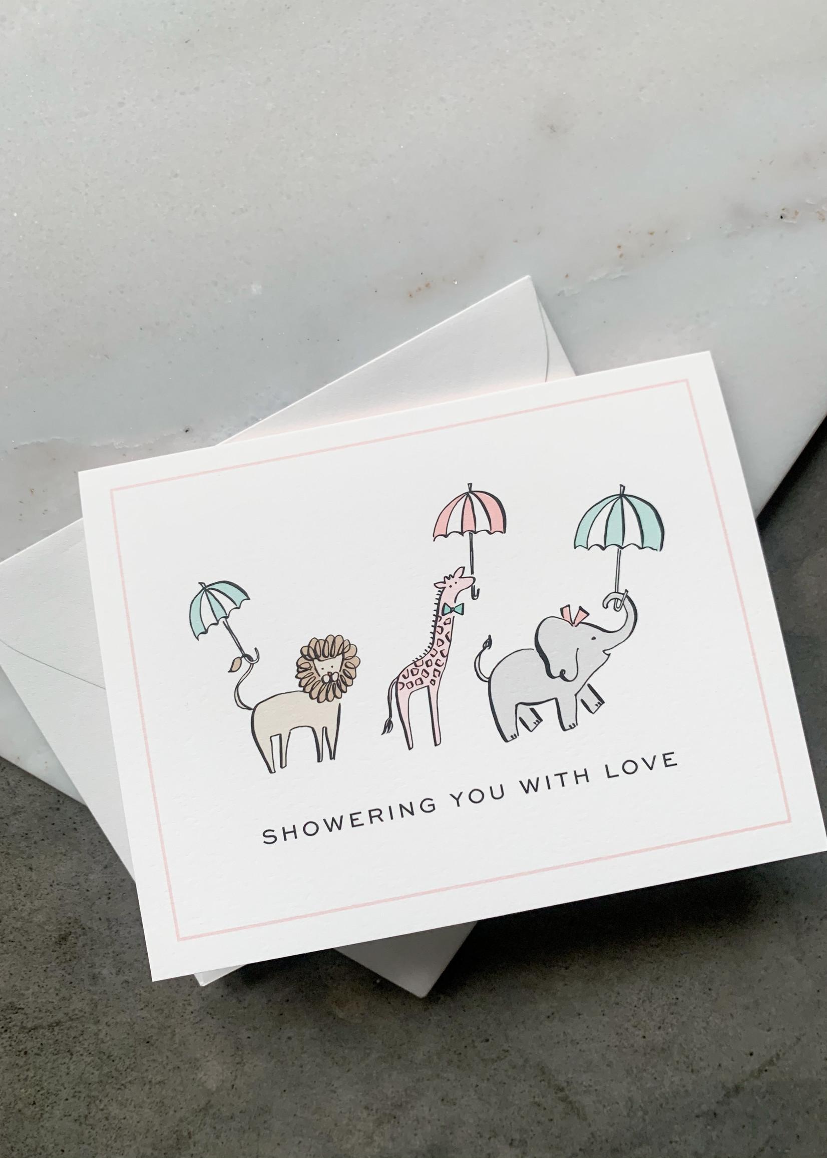 Elitaire Petite Shower Animals Card