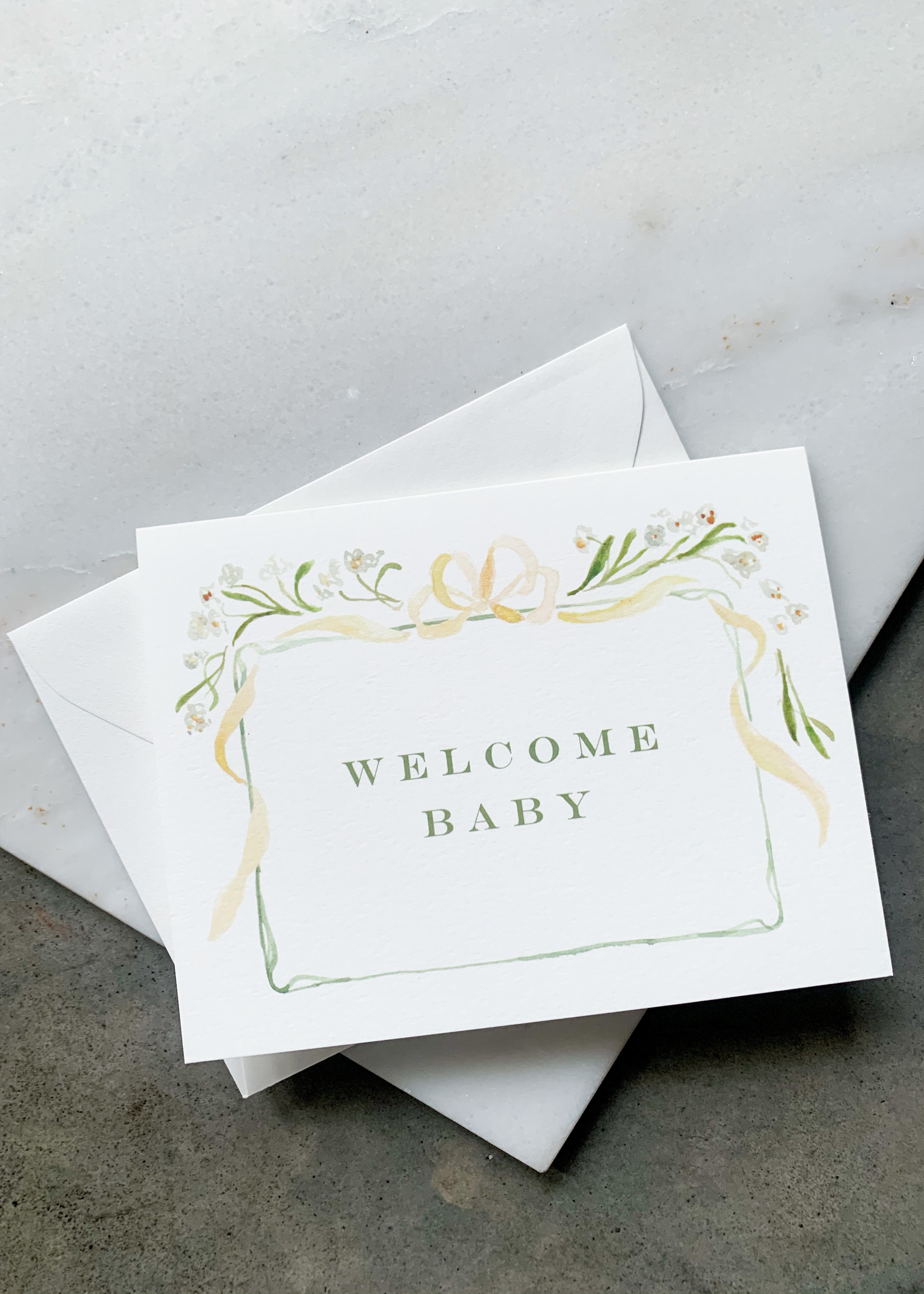 Elitaire Petite Welcome Baby Gender Neutral Card