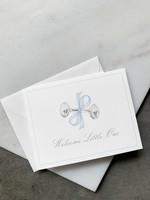 Elitaire Petite Blue Rattle Baby Card