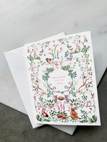 Elitaire Petite Woodland Baby Card Pink