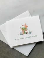 Elitaire Petite Welcome Deer Baby Card