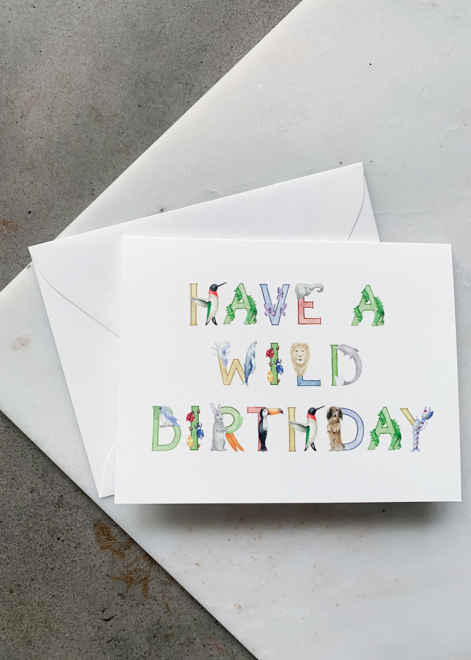 Elitaire Petite Animal Alphabet Baby Birthday Card