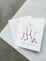 Elitaire Petite Tasseled Balloon Birthday Card