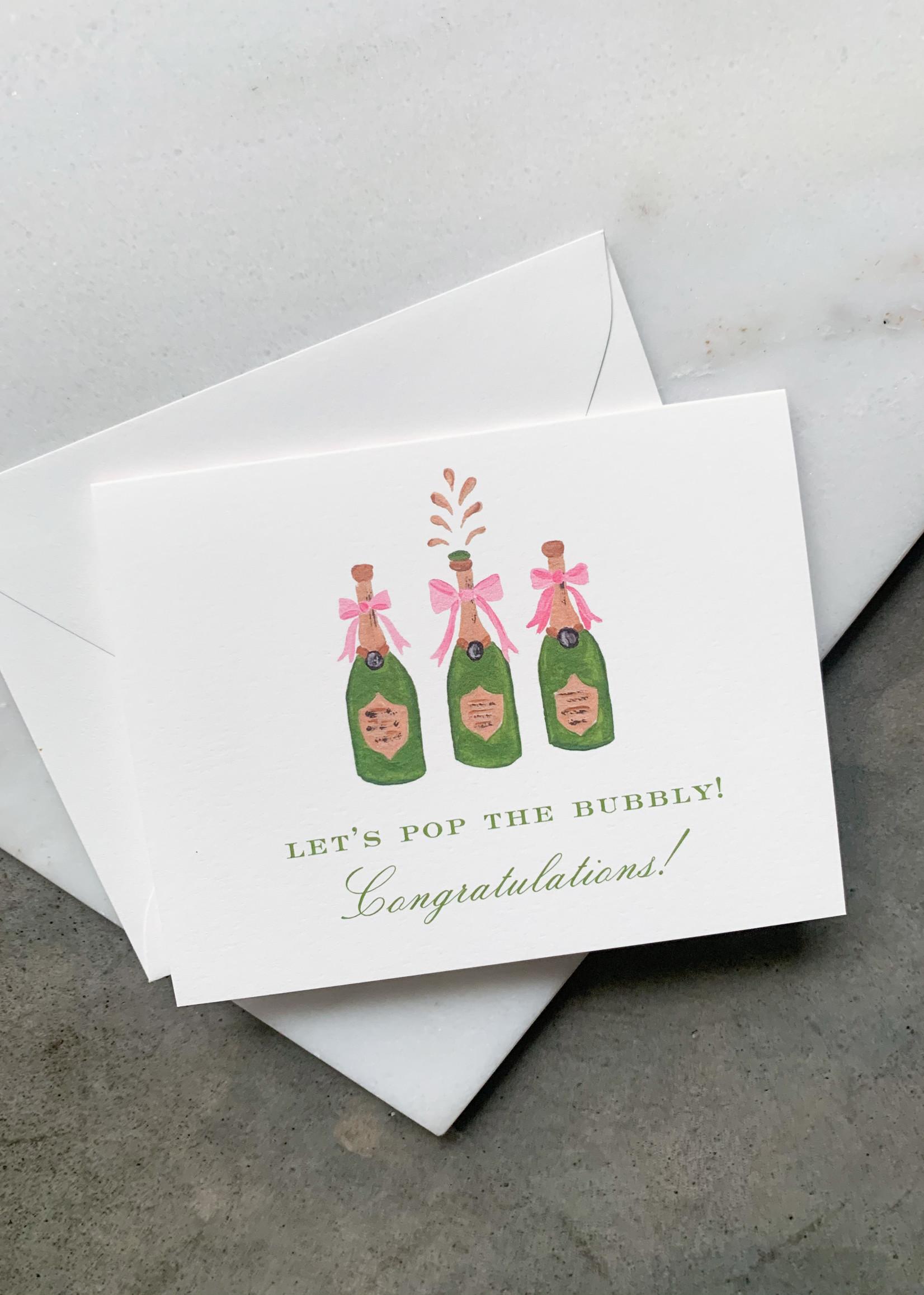 Elitaire Boutique Champagne Congrats Card