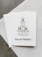 Elitaire Boutique Champagne Coup Pop the Bubbly Card