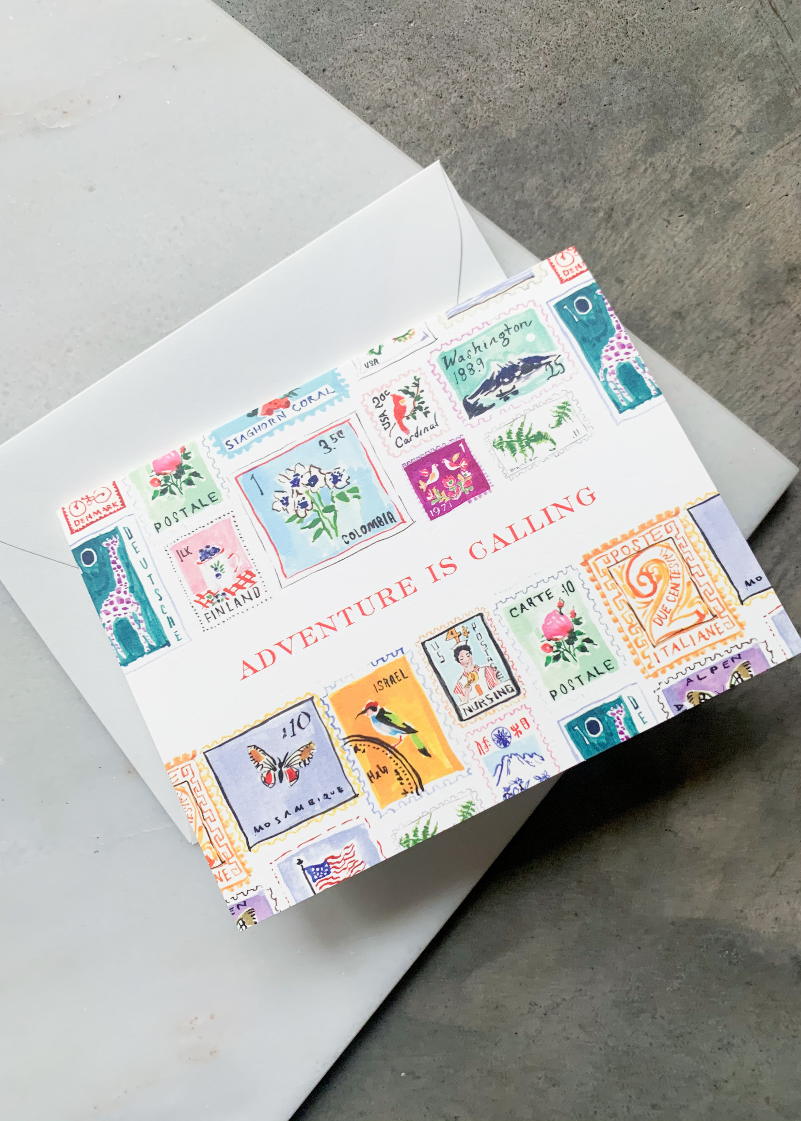 Elitaire Boutique Adventure Awaits Stamps Card