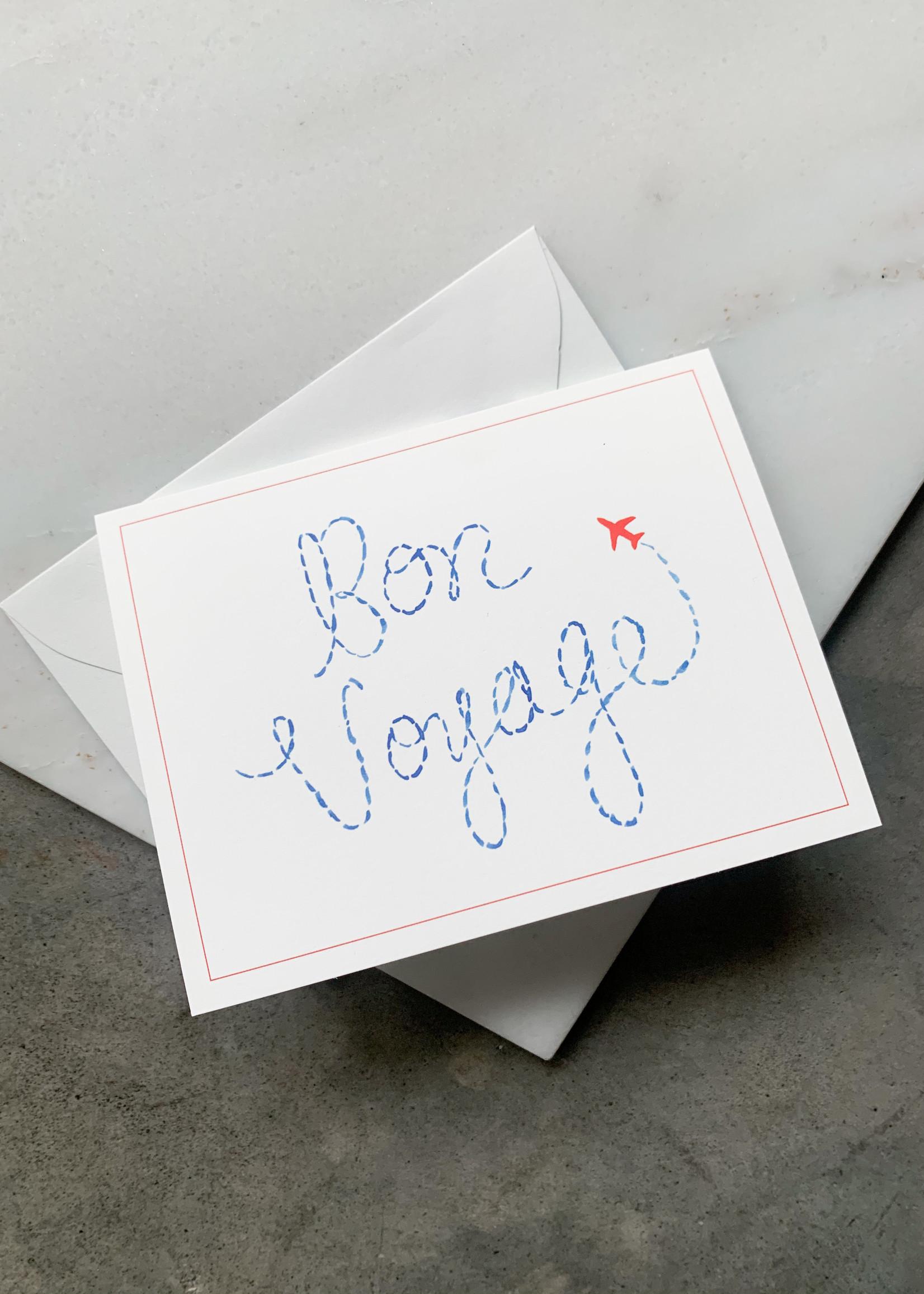 Elitaire Boutique Bon Voyage Stamps Card