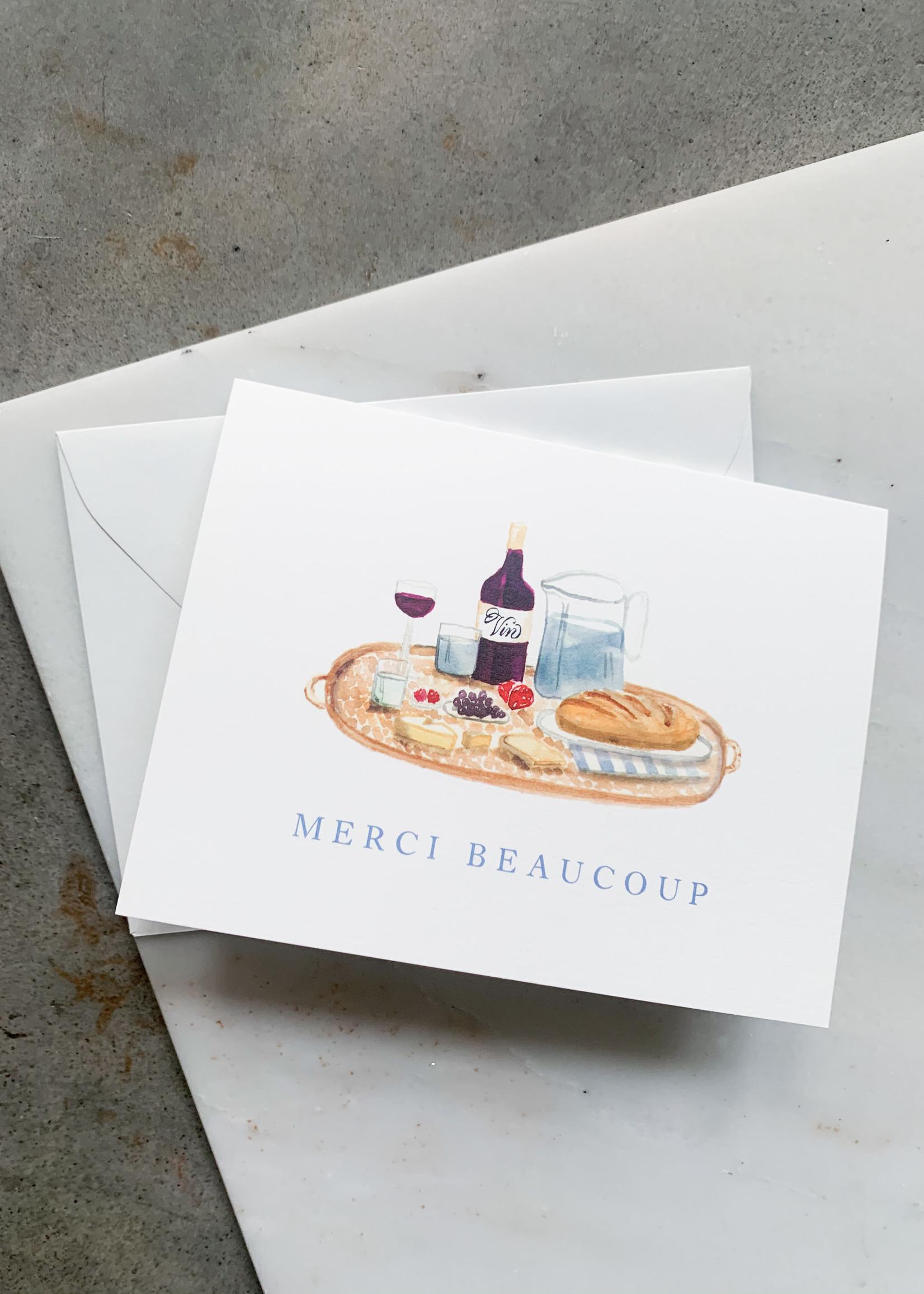 Elitaire Boutique Parisian Picnic Thank You Card